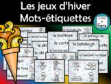 Sports OLYMPIQUES d'hiver - Mur de mots - Vocabulaire (French - FSL)