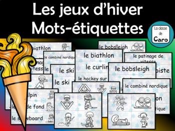 Sports - Jeux d'hiver - Mur de mots - Vocabulaire (French - FSL)