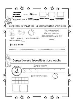 Les activités journalières de mathématiques et de français