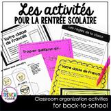 Les activités pour la rentrée scolaire 6e+ French back-to-