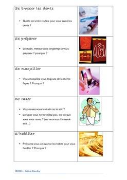 Les activités quotidiennes - PDF pour l'apprenant