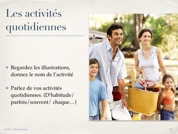 Les activités quotidiennes - POWER POINT/TBI