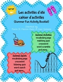 Les activities d'été/ Summer Activity booklet