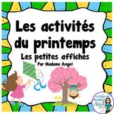 Les activités du printemps:  Mini Spring Activity Posters in French