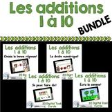 Les additions à 10:  French Addition Digital Task Cards BUNDLE -  BOOM CARDS