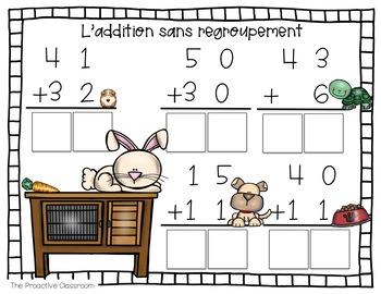 Les additions et les soustractions jusqu'à 100 / French Number Tiles