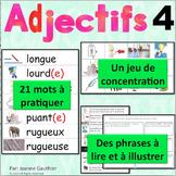 Les adjectifs 4: Je pratique mon vocabulaire {French Vocabulary Practice}