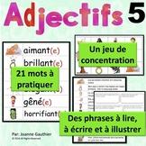 Les adjectifs 5: Je pratique mon vocabulaire {French Vocab