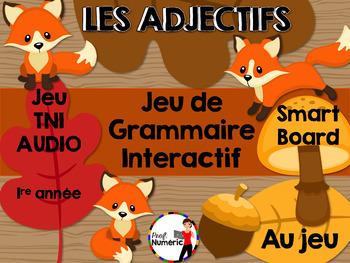 Les adjectifs - Jeu de grammaire TNI interactif
