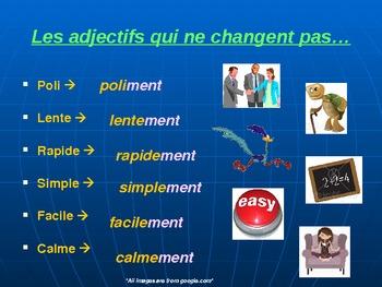 Les adjectifs, les adverbes, les superlatifs et les comparatifs
