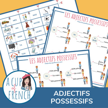 Les adjectifs possessifs - French possessive adjectives