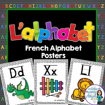Les affiches d'alphabet:  French Alphabet Posters