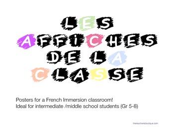 Les affiches de la classe (French classroom posters)