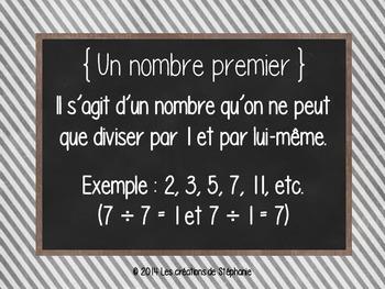 Les affiches de mathématiques pour le 3e cycle FRENCH MATH POSTERS