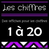 Les affiches des chiffres 1-20 // French Number Posters 1-
