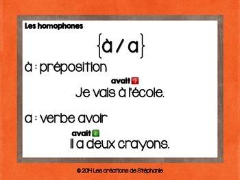 Les affiches d'homophones