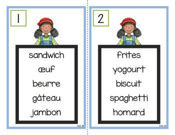 Les aliments (ordre alphabétique)