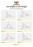 Les angles d'un triangle 2 -Calcule la mesure d'un angle dans un triangle