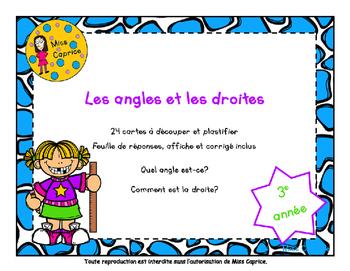 Les angles et les droites - 3e année