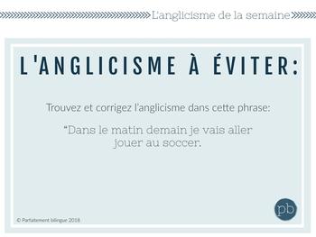 Les anglicismes de la semaine 2 / French Anglicisms 2