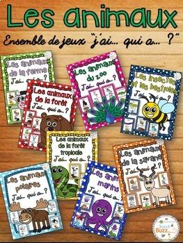 """Les animaux - Ensemble de jeux """"j'ai... qui a....?"""" - French Animals"""
