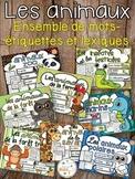 Les animaux - Ensemble mur de mots et lexique - French animals - Bundle