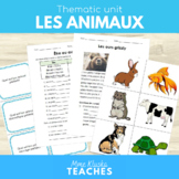 Les animaux - Thematic unit
