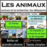 Les animaux: livres documentaires (Animals: French reading) Distance Learning