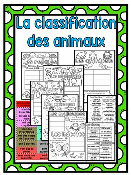 Les animaux (classifications) - Animals (en français)