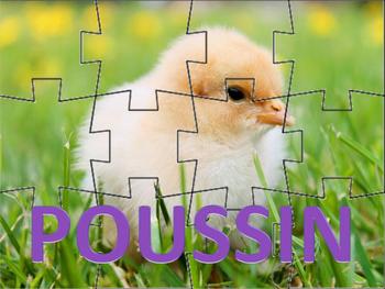 French: Les Animaux de Pâques Puzzles (Set of Six)