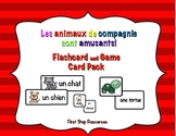 Les animaux de compagnie sont amusants- Flashcard/Game Card Pack