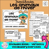 Les animaux de l'hiver ~ French Winter Animals Reader + BOOM™ Version with audio