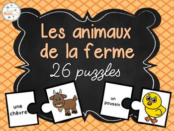 Les animaux de la ferme - 26 puzzles (casse-tête) - French