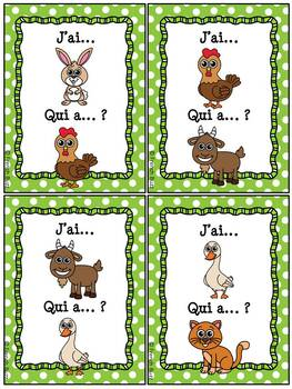 Les animaux de la ferme - Ensemble - French Farm Animals Bundle