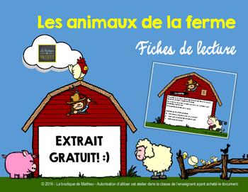 Les animaux de la ferme - Fiches de lecture [extrait gratuit] FRENCH