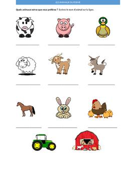 Les animaux du ferme