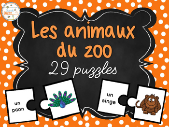 Les animaux du zoo - 29 puzzles (casse-tête) - French Zoo animals