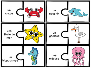 Les animaux marins - 31 puzzles (casse-tête) - French ocean animals