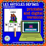 Articles définis singuliers: French definite articles   Printable & Digital Boom