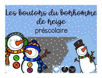 Les boutons du bonhomme de neige