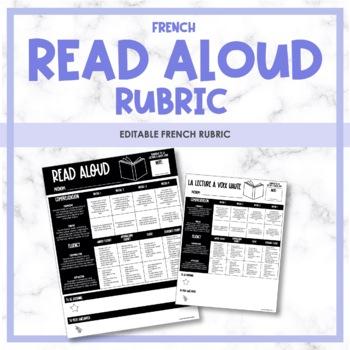 French Read Aloud Rubric - Rubrique de lecture