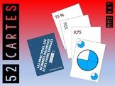 Les cartes à jouer -Les fractions, les nombres décimaux et les pourcentages - N1