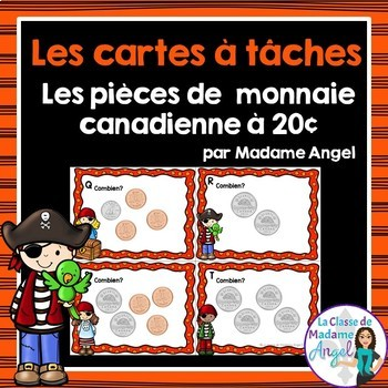 Les cartes à tâches:  French Money Task Cards - La monnaie