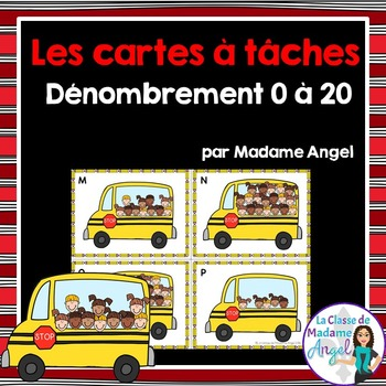 Les cartes à tâches:  French Task Cards - Counting 1 to 20