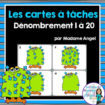 Les cartes à tâches:  French Task Cards - Counting 1 to 20 (Les monstres)