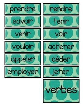 """Les cartes """"conjugaison"""""""
