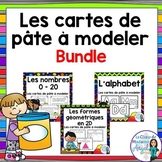 Les cartes de pâte à modeler:  French Play Dough Activity Cards BUNDLE