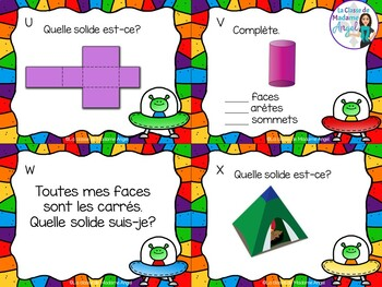 Les cartes à tâches:  French Task Cards - 3D Solids
