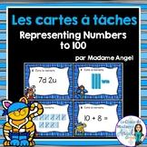 La valeur de position:  French Task Cards - Place Value to 100