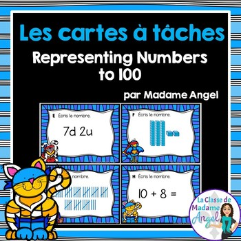 Les cartes à tâches:  French Task Cards - Place Value to 100